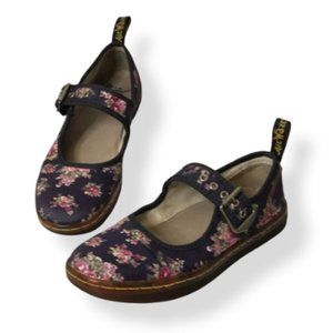 Dr. Martens Carnaby Purple Floral Mary Janes 6